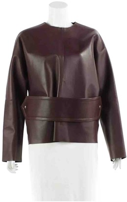 Celine Burgundy Leather Top for Women