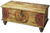 Trunks Butler Mesa Carved Wood Trunk Cocktail Table