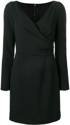 Dolce & Gabbana long sleeve wrap mini dress