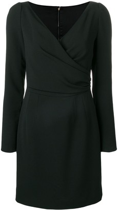 Dolce & Gabbana Long Sleeve Wrap Mini Dress