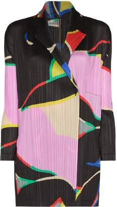 Pleats Please Issey Miyake patterned pleated jacket