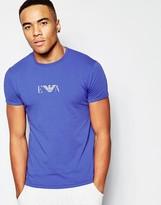 Emporio Armani Logo Slim Fit T-shirt With Crew Neck - Blue