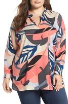 Vince Camuto Plus Size Women's Modern Tropics Tunic Blouse