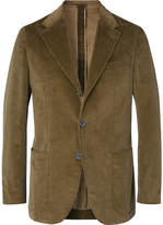 Caruso Green Butterfly Cotton-Blend Corduroy Suit Jacket