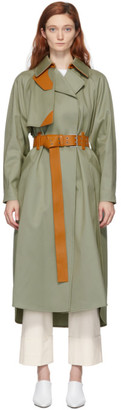 Sportmax Grey Flint Trench Coat