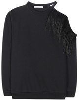 Christopher Kane Feather-embellished cotton sweatshirt