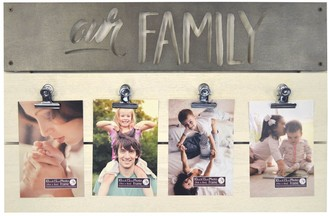 New View Gifts & Accessories New View Gifts Our Family 4-Photo Opening Clip Collage Frame