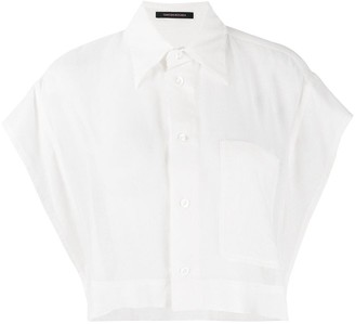 Y's Cropped Button Shirt