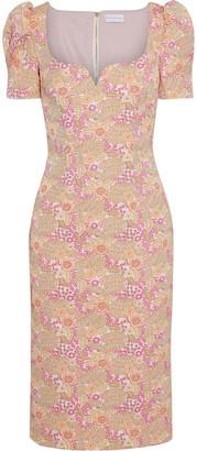 Rebecca Vallance Stella Floral-brocade Dress