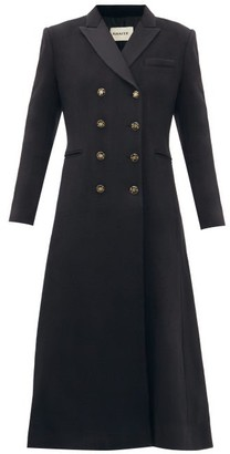 KHAITE Marge Double-breasted Recycled-cashmere Coat - Black