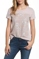 Lucky Brand Women's Print Lace Panel Tee