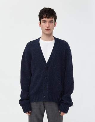 Maison Margiela Destroyed Donegal Cardigan in Navy