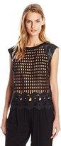 Greylin Women's Oscar Grid Lace Sleeveless Top