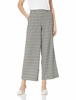 ECI New York Women's Plaid Pants with Belt Loops