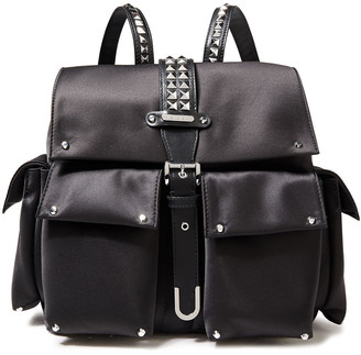MICHAEL Michael Kors Studded Satin And Faux Leather Backpack