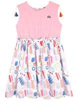Andy & Evan Girls' Pink 80's Printed T-shirt Dress.