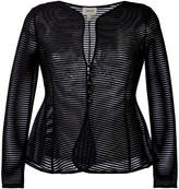 Armani Collezioni sheer flared jacket