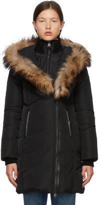 Mackage Black Down and Fur Classic Kay Parka