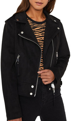 Warehouse Suedette Biker Jacket