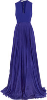 Antonio Berardi Paneled silk-crepe and silk-chiffon gown