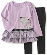 Kids Headquarters Baby Girls Two-Piece Layered Tunic and Solid Leggings Set