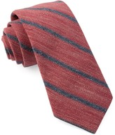 The Tie Bar Raspberry North Border Stripe Tie
