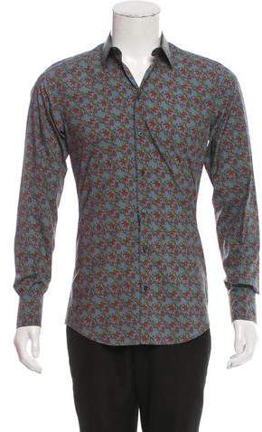 Dolce & Gabbana Chili Print Button-Up Shirt w/ Tags