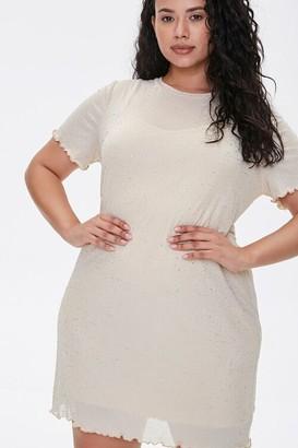 Forever 21 Plus Size Metallic Pin Dot T-Shirt Dress