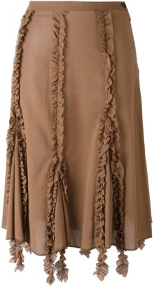 Romeo Gigli Pre-Owned Ruffled Trim Skirt
