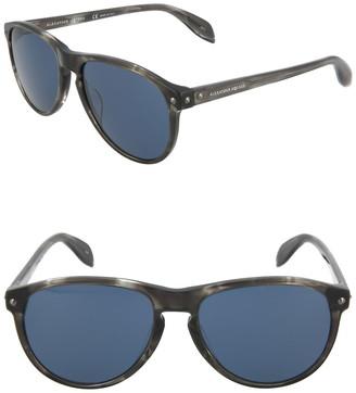 Alexander McQueen 55mm Core Sunglasses