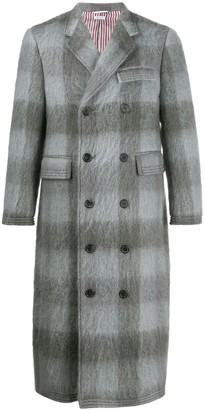 Thom Browne Large Buffalo Check Long Chesterfield Coat