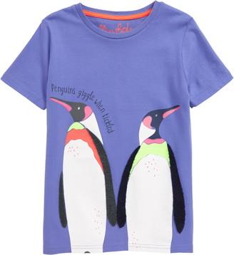 Boden Mini Penguins Animal Fact T-Shirt