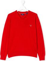 Gant Kids - teen v-neck pullover - kids - Cotton - 14 yrs