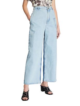 McQ Maru High-Rise Two-Tone Jeans