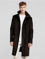 Calvin Klein Collection Moleskin Stand Collar Overcoat