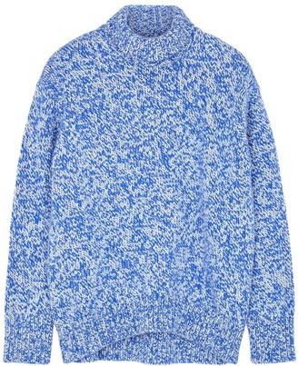 Plan C Blue Chunky-knit Wool Jumper