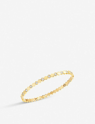 Chaumet Bee My Love 18ct yellow-gold and diamond bangle