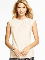 Talbots Ruched Crisscross-Front Top