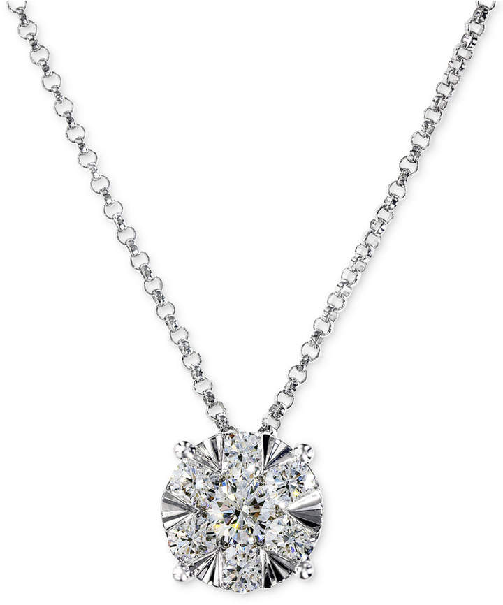 Effy Diamond Pendant Necklace in 14k White Gold (3/5 ct. t.w.)