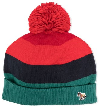 Paul Smith TEEN panelled pompom beanie