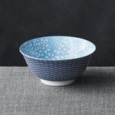 "Crate & Barrel Kiso Light Blue 6"" Rice Bowl"