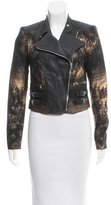 Yigal Azrouel Jacquard & Leather-Paneled Jacket