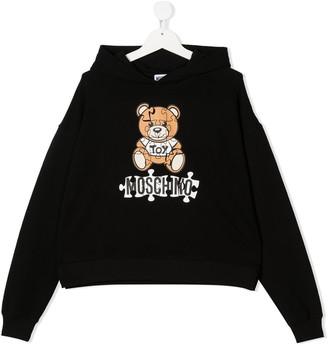 MOSCHINO BAMBINO TEEN Teddy logo hoodie