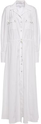 Oscar de la Renta Cotton-blend Poplin Maxi Shirt Dress