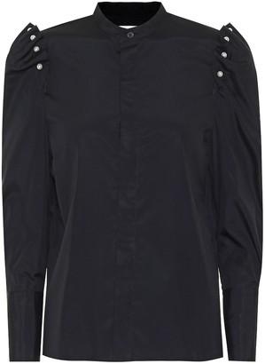 Noir Kei Ninomiya Embellished cotton-poplin blouse