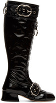 Miu Miu Black Patent Knee-High Boots