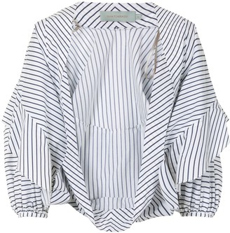 Silvia Tcherassi Striped-Print Cotton Blouse
