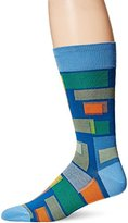 Bugatchi Men's Shaded Blocks Fancy Sock