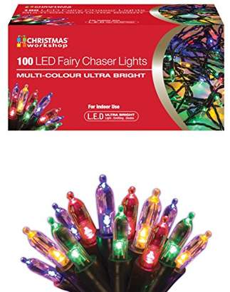 The Christmas Workshop 100 LED Fairy Chaser Lights, Multi-Colour
