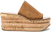 Chloé Suede Camille Wedge Sandals